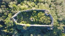 Aerial view on the Ripafratta Castle by Fabio Santaniello Bruun