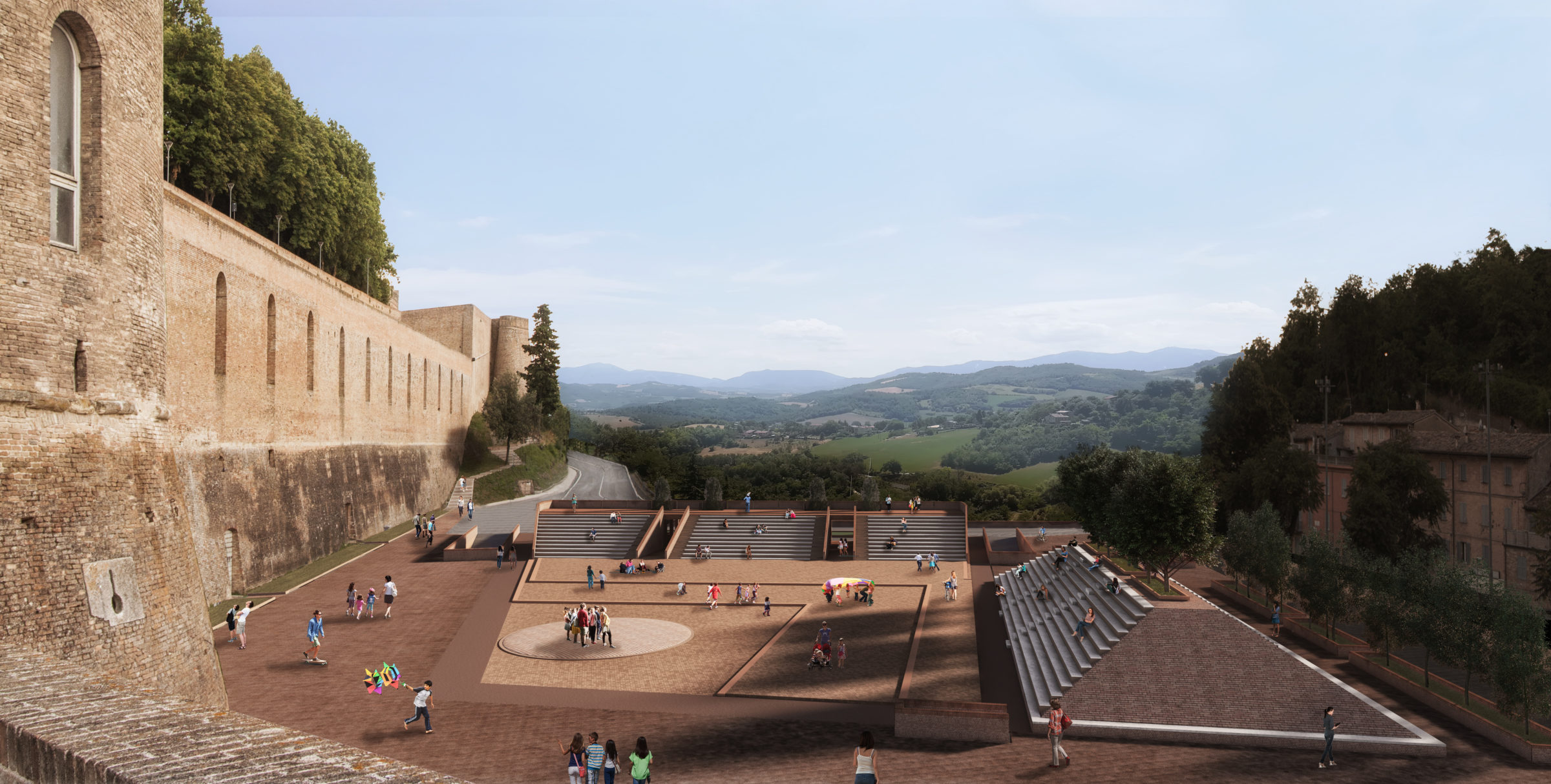 Renovation Of Mercatale Area Urbino Dedalo Building Lab